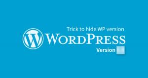 Hide WordPress version or Remove WordPress version for better security!