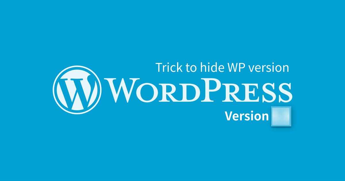 Hide WordPress version